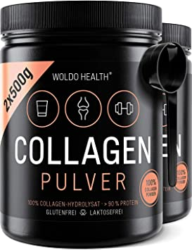 WoldoHealth I Colágeno Bovino I 2x 500g Polvo I Hidrolizado I 100% Proteína Colágeno de vacuno