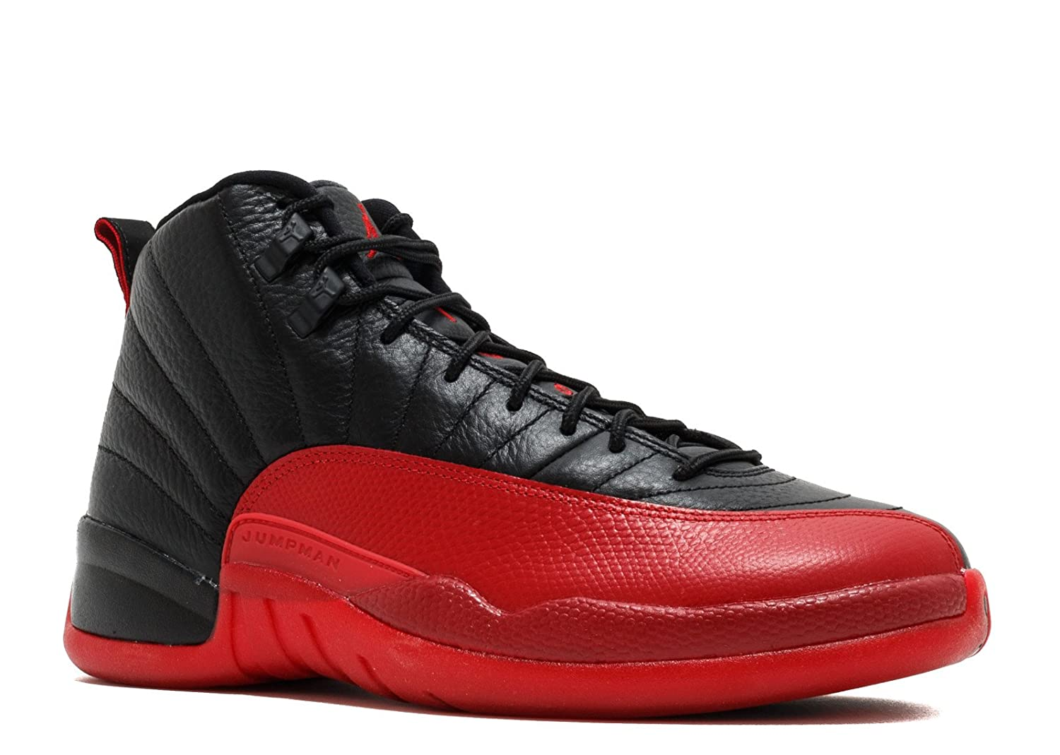 Nike Air Jordan 12 Retro Flu Game Black/Varsity Red Trainer  7.5|Black, Varsity Red