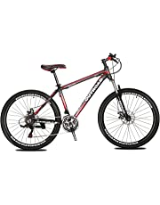 Max4out Mountain Bike 21 Speed Shining SYS Double Disc Brake Suspension Fork Rear Suspension Anti-Slip 26 inch Bikes