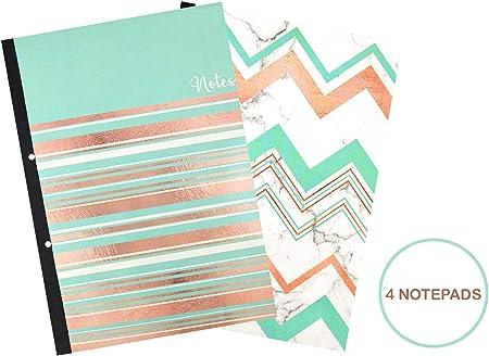 YoL Pack de 4 cuadernos de notas A4 cuaderno de notas de mármol moderno diseño escuela