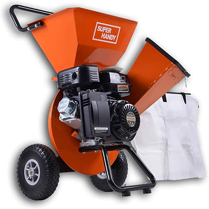 SuperHandy Gas 3 in 1 Wood Chipper Shredder Mulcher – Best for Heavy-duty Jobs