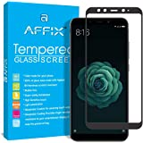 AFFIX Full Glue Xiaomi Mi A2 Full Coverage 9H Tempered Glass, Full Edge-to-Edge 5D Screen Protector - Black