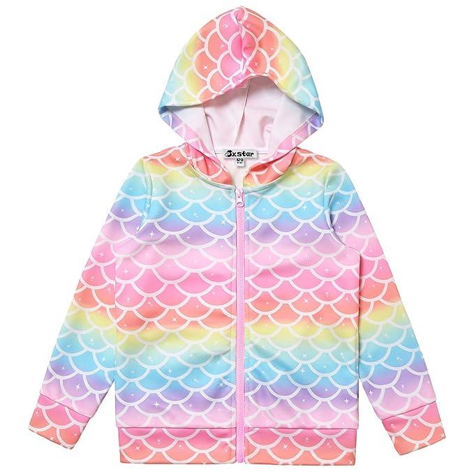 Amazon.com: Sudadera con capucha y cremallera para niña con ...