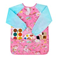 Bassion 23 X 17 Inches Smock for Kids, Waterproof Art Toddler Smocks, Round Neck for Children/Kid/Boys/Girls
