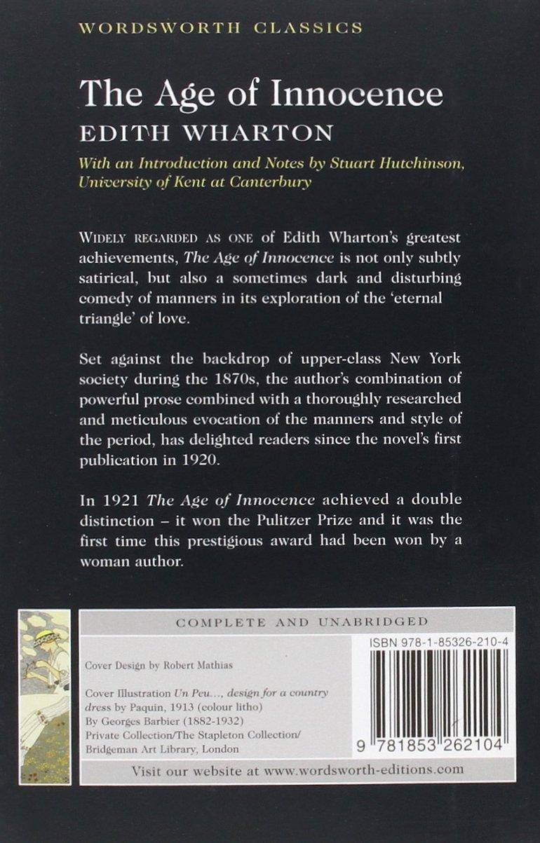 The Age Of Innocence Wordsworth Classics Amazon Edith
