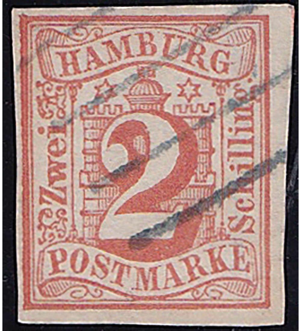 Goldhahn Hamburg Nr. 3 gestempelt und geprüft Briefmarken für Sammler