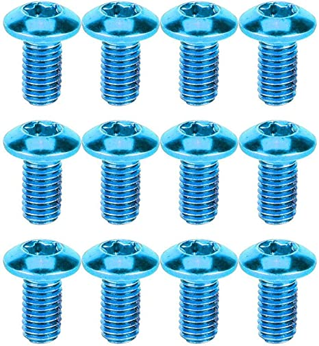 Disc Brake Rotor Bolts Blue Coloured Durable Steel MTB Bicycle Bike 2 Sets 12