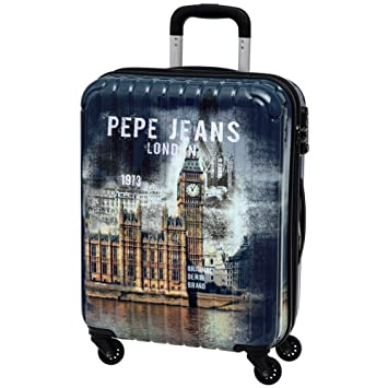Pepe Jeans Maleta Mediana Rígida, Diseño London, Color Azul, 72 litros: Amazon.es: Equipaje