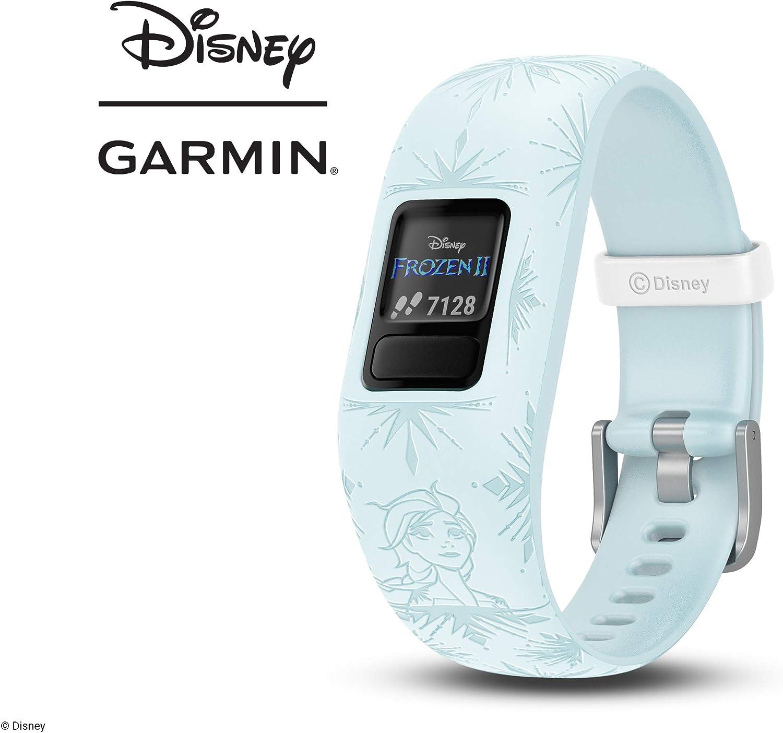 Garmin Vivofit Jr. 2 Disney Frozen 2 Elsa Pulsera de Actividad para Niños, Ajustable, Azul Claro