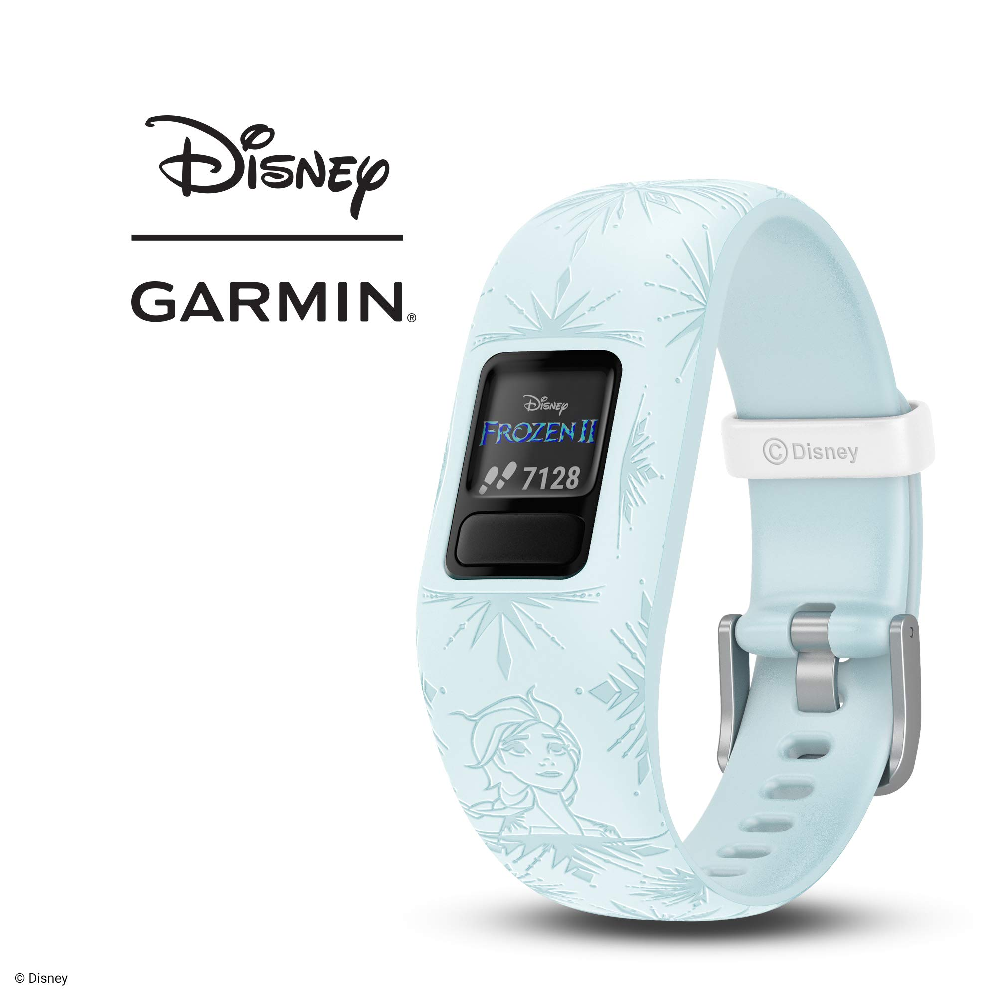 Garmin vívofit Jr 2, Kids Fitness/Activity Tracker, 1-Year Battery Life, Adjustable Band, Disney Frozen 2, Elsa, Light Blue by Garmin