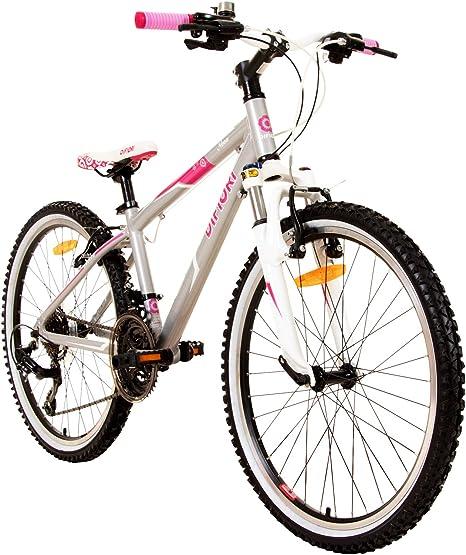 Difiori Nova FS Bicicleta para niña, 24 Pulgadas, 21 Marchas ...