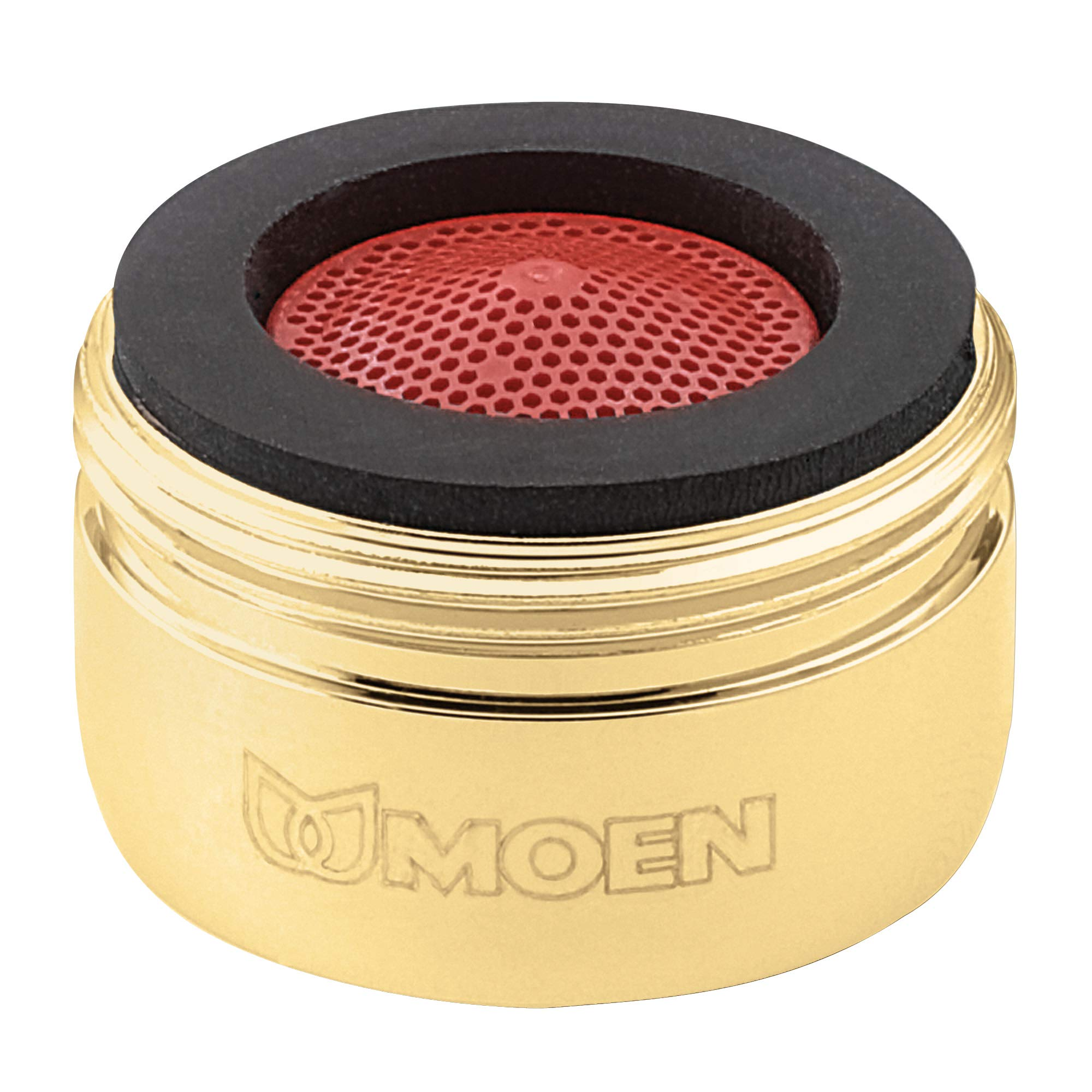 Moen 3919P Aerator, 2.2 GPM, Male Thread, Polished Brass by Moen