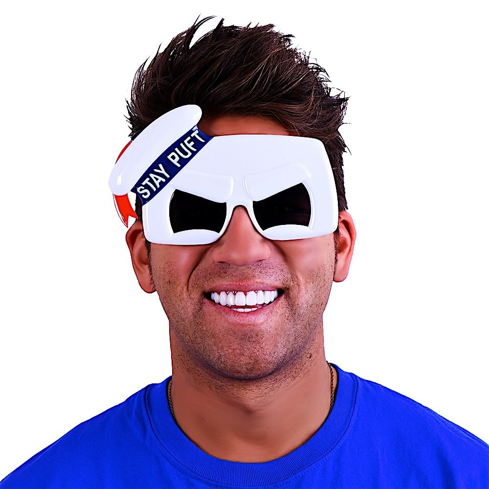 Costume Sunglasses Sony Stay Puff Marshmallow Man Sun-Staches Party Favors UV400 Distributed by H2W ghostbuster