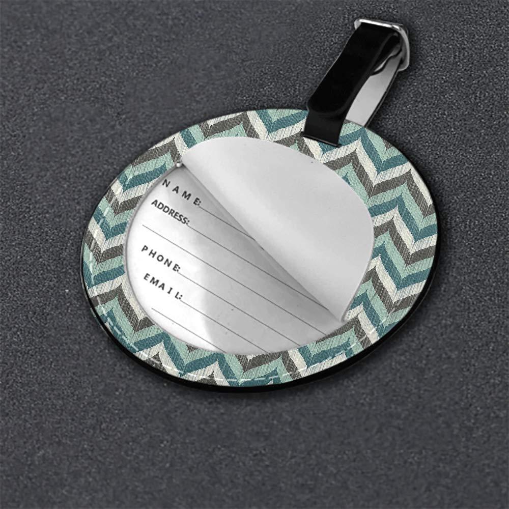 1 pcs,2 pcs,4pcs Microfiber PU leather Round luggage tag