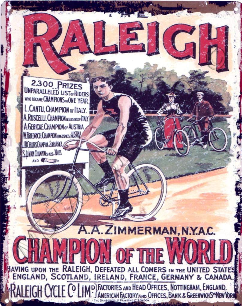 RALEIGH CYCLES BICYCLE METAL WALL SIGN RETRO VINTAGE STYLE LARGE 12X16in 30x40cm garage cycling games room man cave tour de france shop