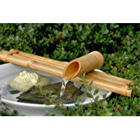 "Bamboo Accents Water Fountain & Pump Kit €"" 18 inch, 3 Arm Style Split-Resistant All Natural Bamboo €"" DIY Indoor/Outdoor Zen Garden - Fits 15-30 inch Bowl (not Included)"