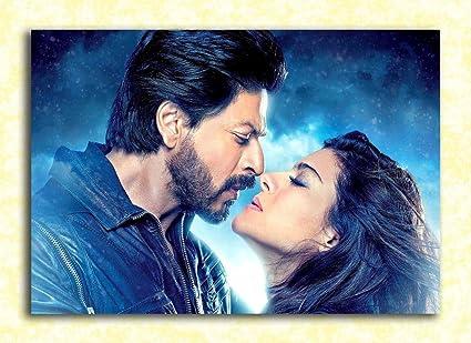 Tamatina Actors Wall Poster - Shah Rukh Khan and Kajol