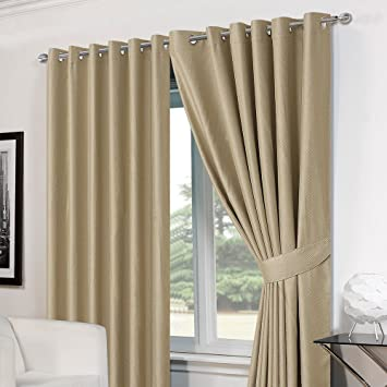 Curtains Ideas 54 inch curtains : Dreamscene Luxury Basket Weave Blackout Thermal Lined Eyelet ...