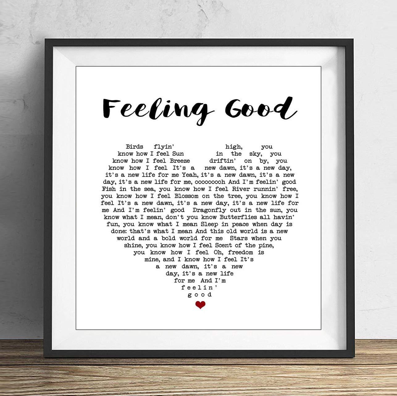 Amazon.com: 19 saijhii Feeling Good Nina Simone Heart Song ...