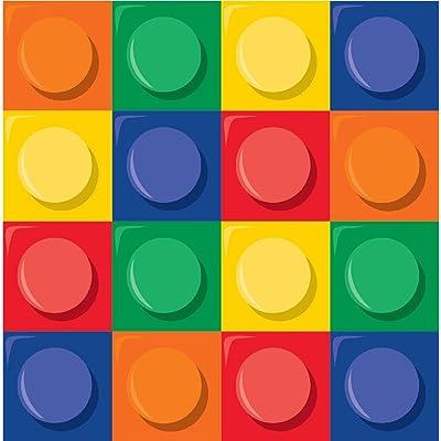 1x Lot de 16serviettes en papier bloc ~ Thème LEGO Uni.