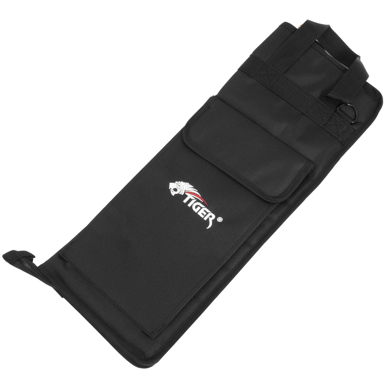 Tiger Premier Drum Stick Bag - With Shoulder Strap Tiger Music DGB49-BK
