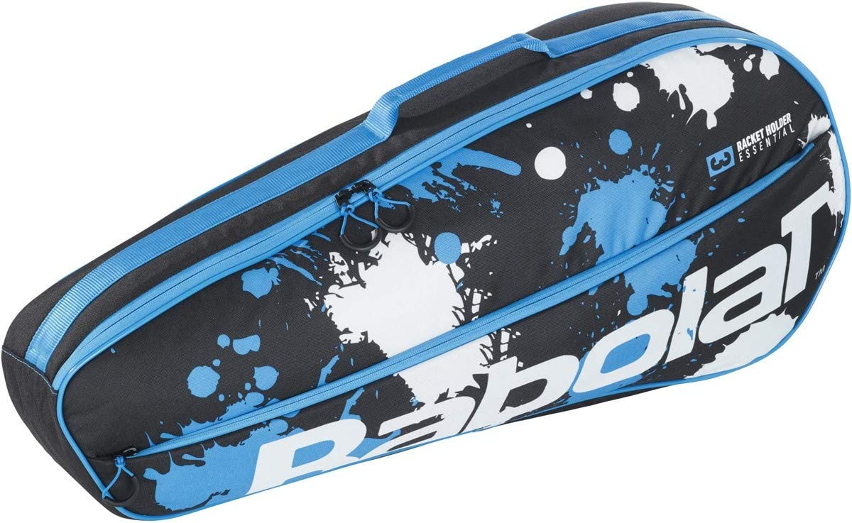 Babolat ESSENTIAL TENNIS RACKET BAG BLACK BLUE WHITE 2-3 RACKETS