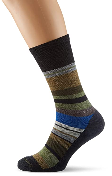SmartWool Mens Saturnsphere, Calcetines para Hombre, Negro (Charcoal Light Loden Heather A)