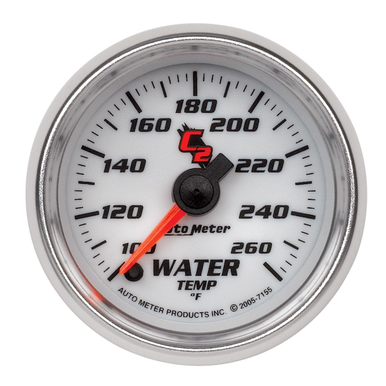 Auto Meter 7155 C2 Full Sweep Electric Water Temperature Gauge
