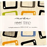 "Reel Time Moda Charm Pack By Zen Chic; 42 - 5"" Precut Fabric Quilt Squares"