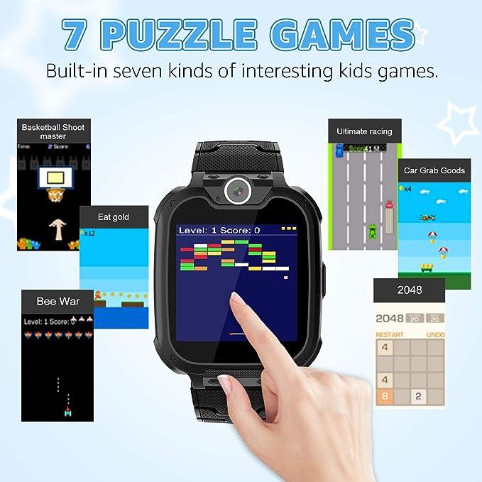 Smartwatch para Niños Game Watch - Juego de Música Reloj Inteligente (Incluye Tarjeta Micro SD de 1GB) con Juegos de Llamada Grabadora de Cámara Reloj ...