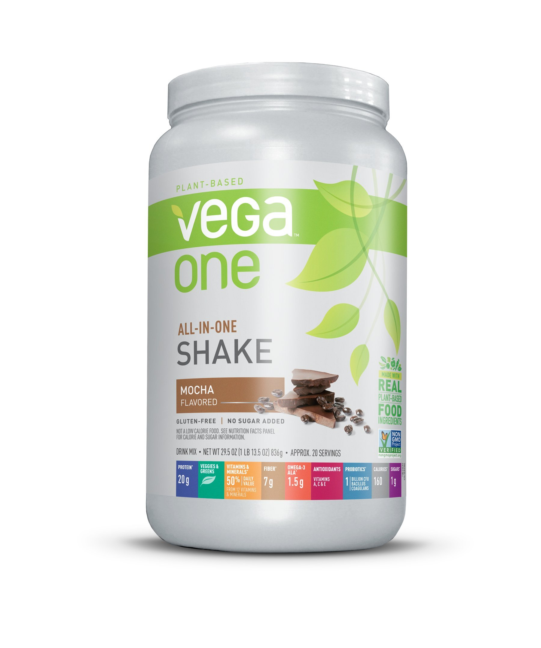 Vega One All-In-One Plant Based Protein Powder, Mocha, 1.84 lb, 20 Servings