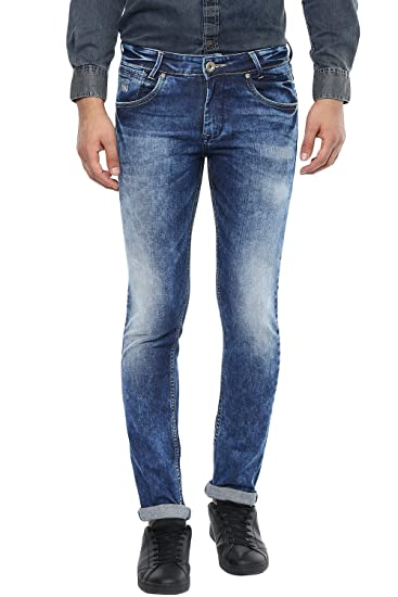 4fe770eaca14 Mufti Mens Dark Blue Slim Fit Low Rise Jeans (36)  Amazon.in  Clothing    Accessories