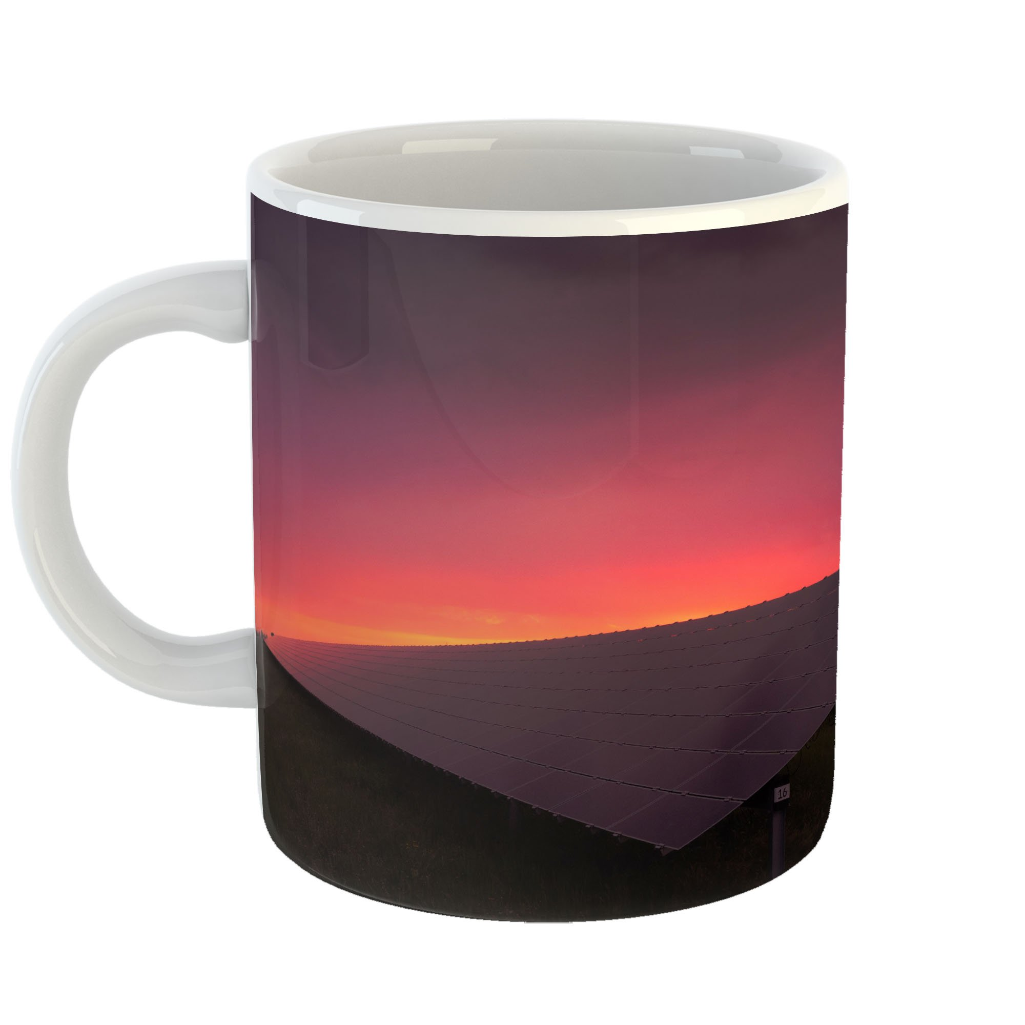 Westlake Art - Solar Sunset - 11oz Coffee Cup Mug - Modern Picture Photography Artwork Home Office Birthday Gift - 11 Ounce (36CE-951E8)