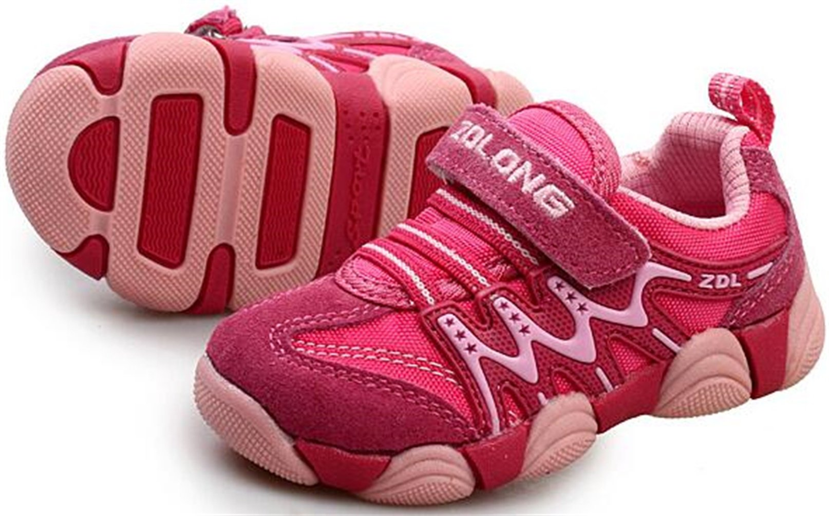 PPXID Boy's Girl's Athletic Lace up Casual Sneaker Running Shoes-Pink 11.5 US Size by PPXID (Image #2)