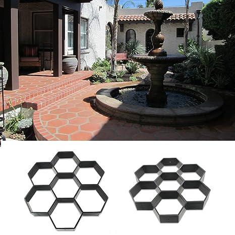 GEZICHTA Molde de jardín para pavimento de jardín de la marca molde de hormigón de pavimento