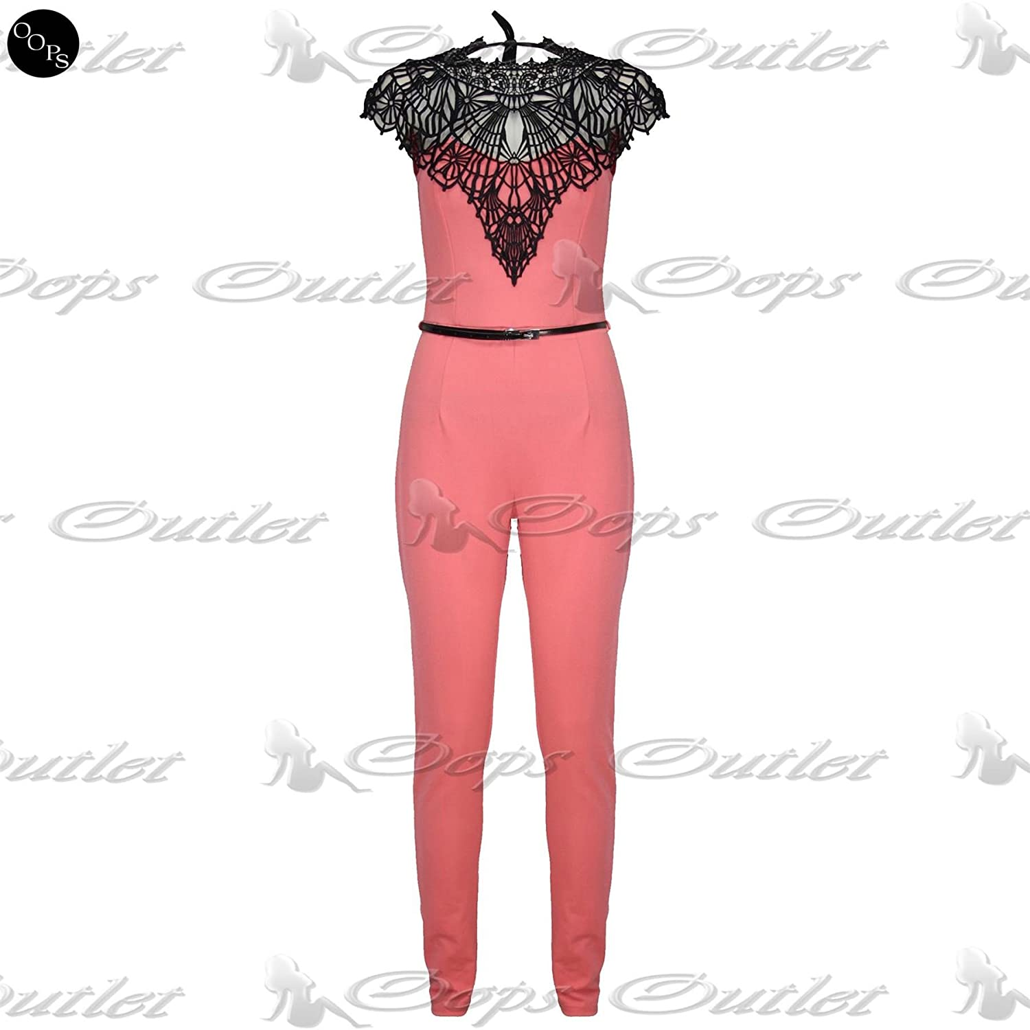 Pure Fashion Damen Jumpsuit Ärmellos Mehrfarbig