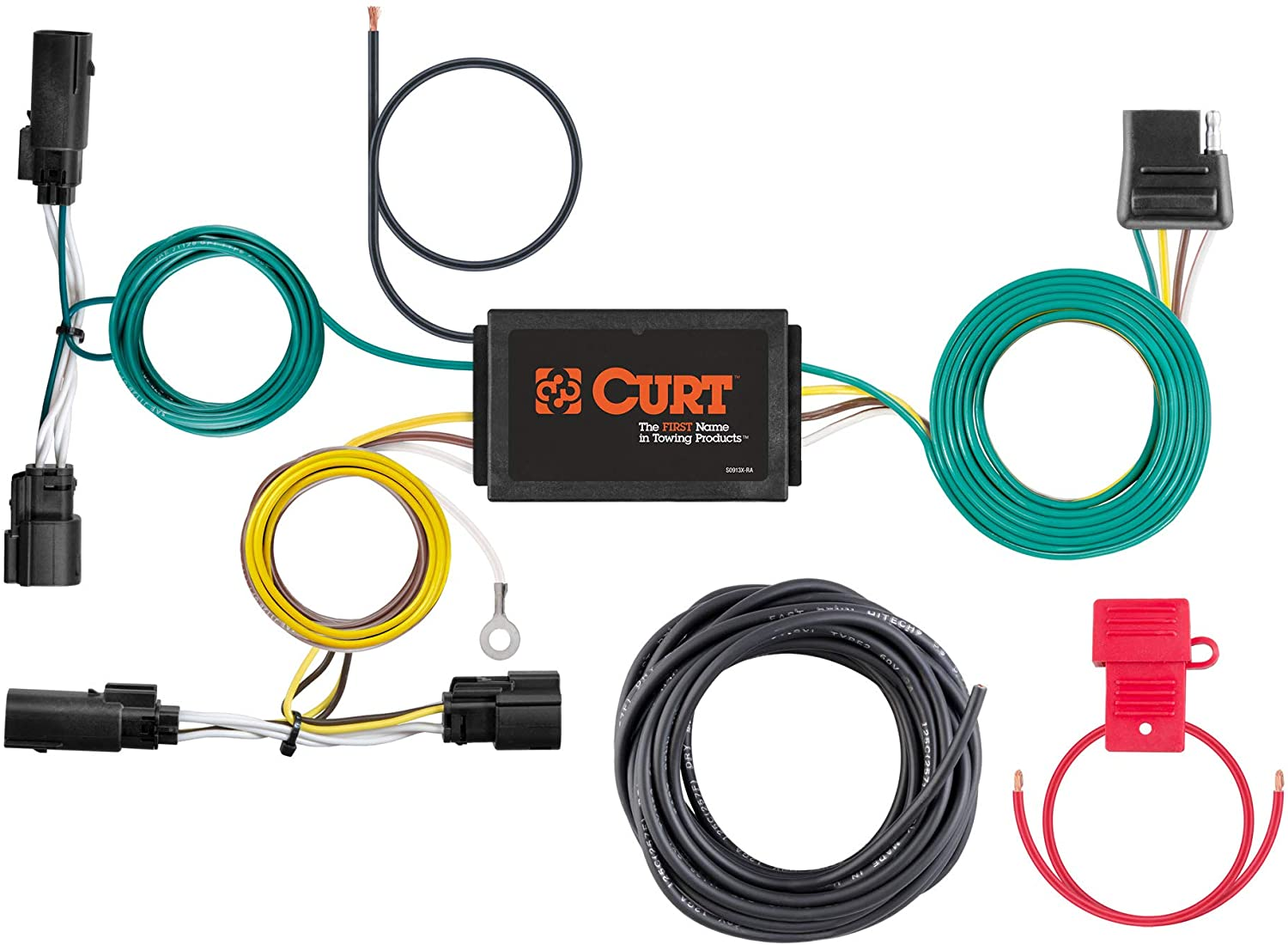 CURT 400 Vehicle Side Custom 40 Pin Trailer Wiring Harness, Select Ford  Escape , Black