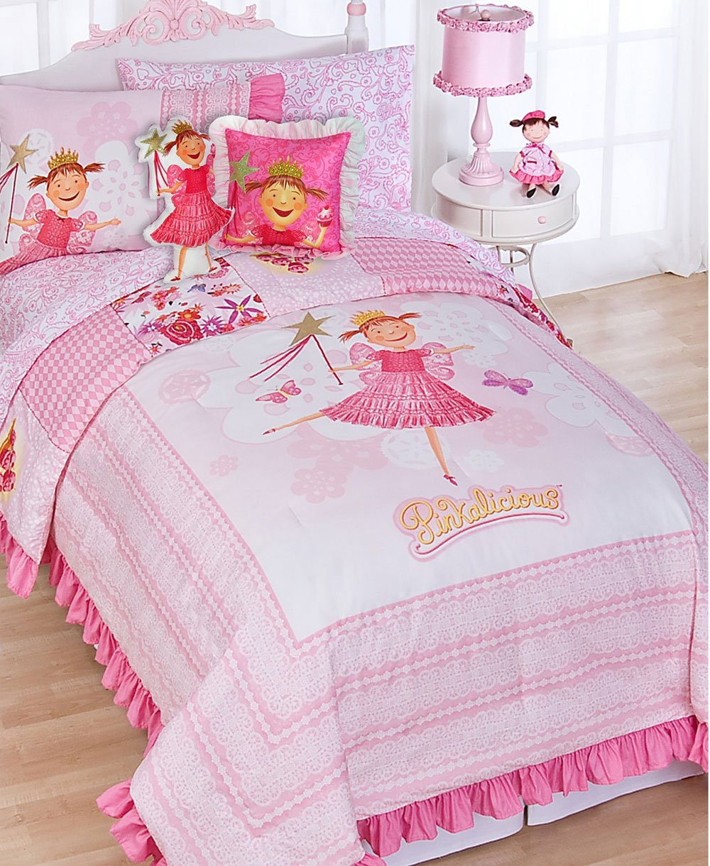 Home 187 unicorn quilt cover set return to previous page - Amazon Com Pinkalicious Fairy Princess 7pc Pink Full Bedding Set Home Kitchen
