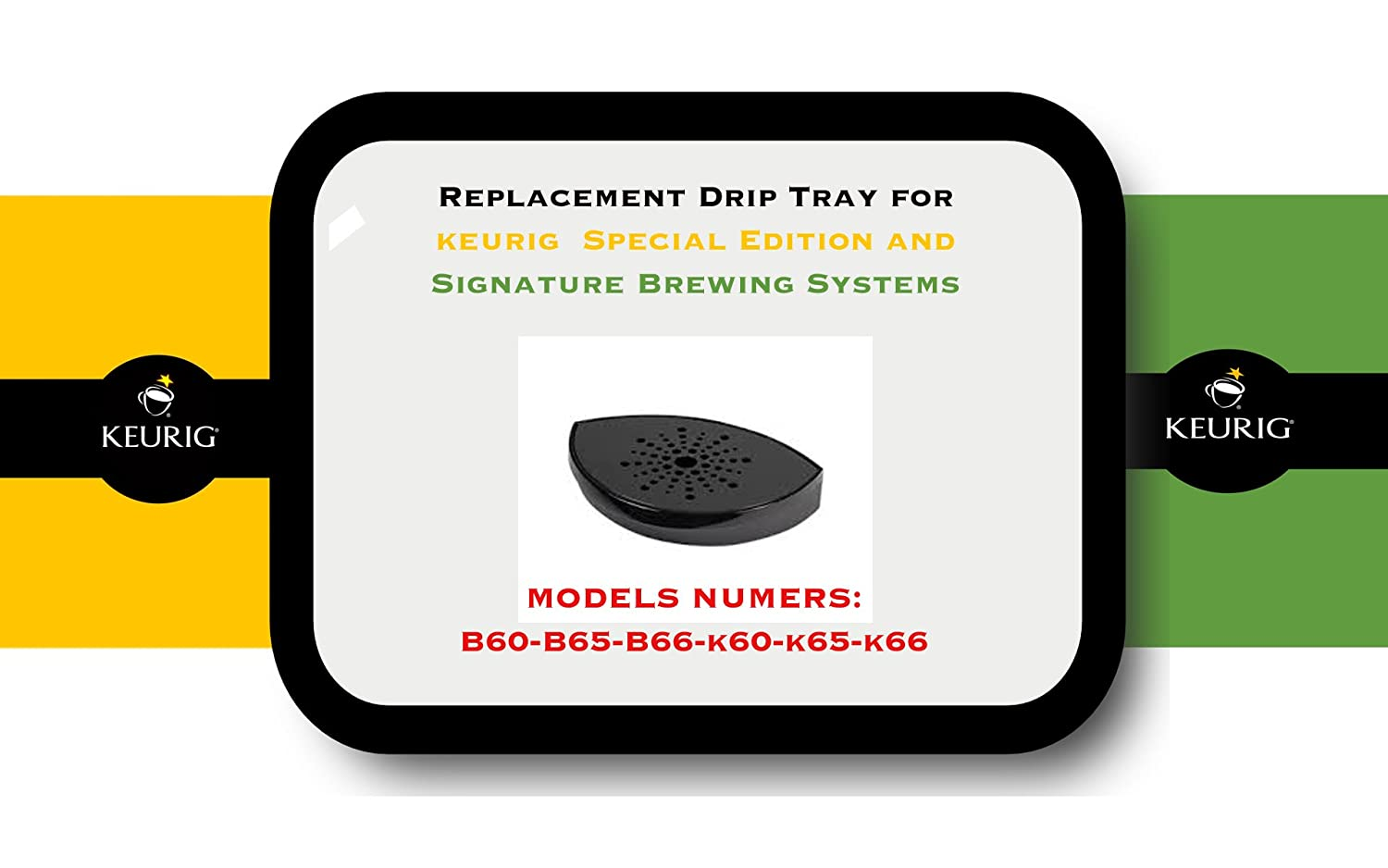 Replacement Drip Tray for Keurig B60, B65, B66, K60, K65, K66, Special Edition and Signature Brewing Systems