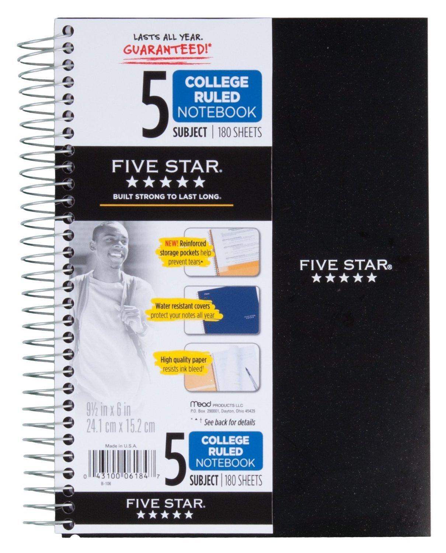 bac4438331d4 Amazon.com   Five Star Spiral Notebook