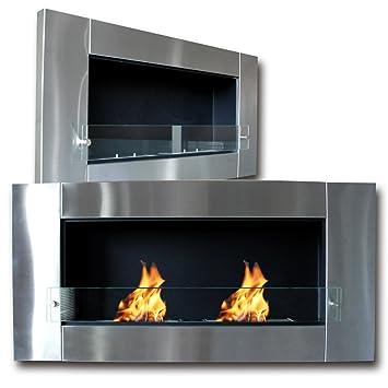 Di-Nesh24 HELIOS XL - Cassette de chimenea de gel (2 quemadores, bioetanol, acero inoxidable, cristal): Amazon.es: Bricolaje y herramientas