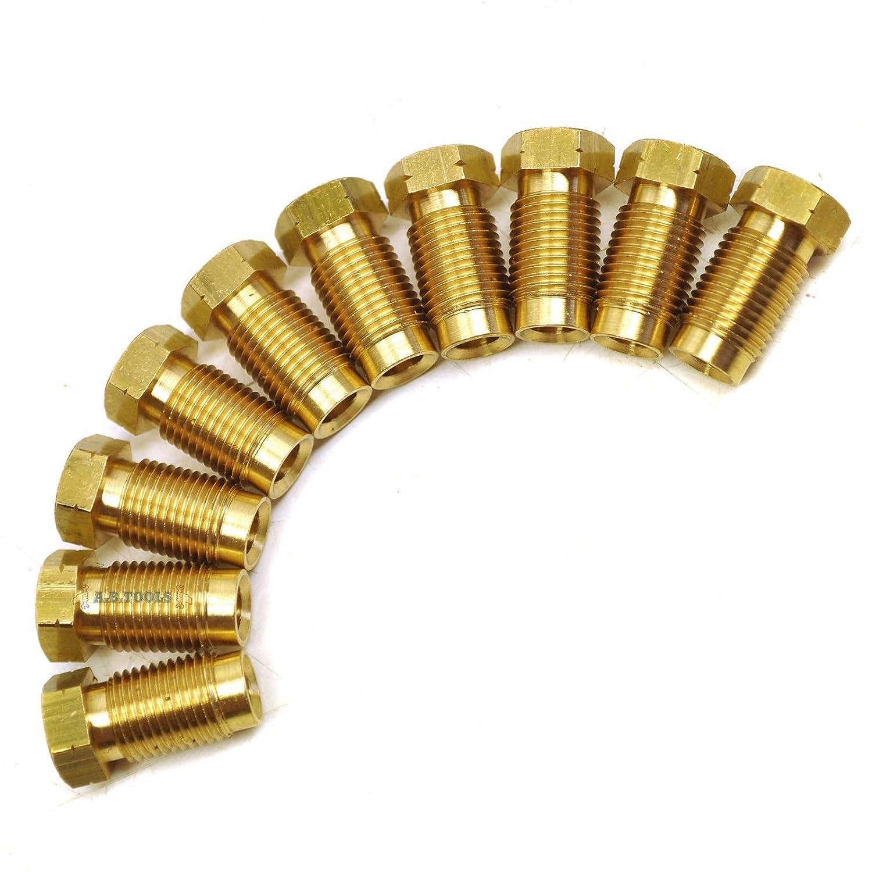 A B Tools Raccords de tuyaux de frein laiton M10 x 1mm Lot de 10 mâ le pour tuyau 3/16' FL12 AB Tools