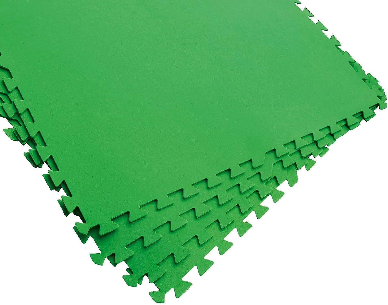 Bestway Flowclear Pool-Bodenschutzfliesen-Set, 8 Stück á 81 x 81 cm, grün Accesorio para Piscina, Verde