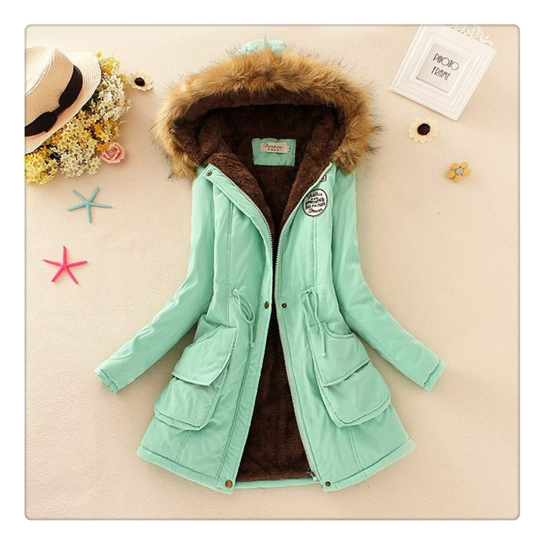 Dmoshibei New Parkas Female Women Winter Coat Thickening Cotton Winter Jacket Outwear