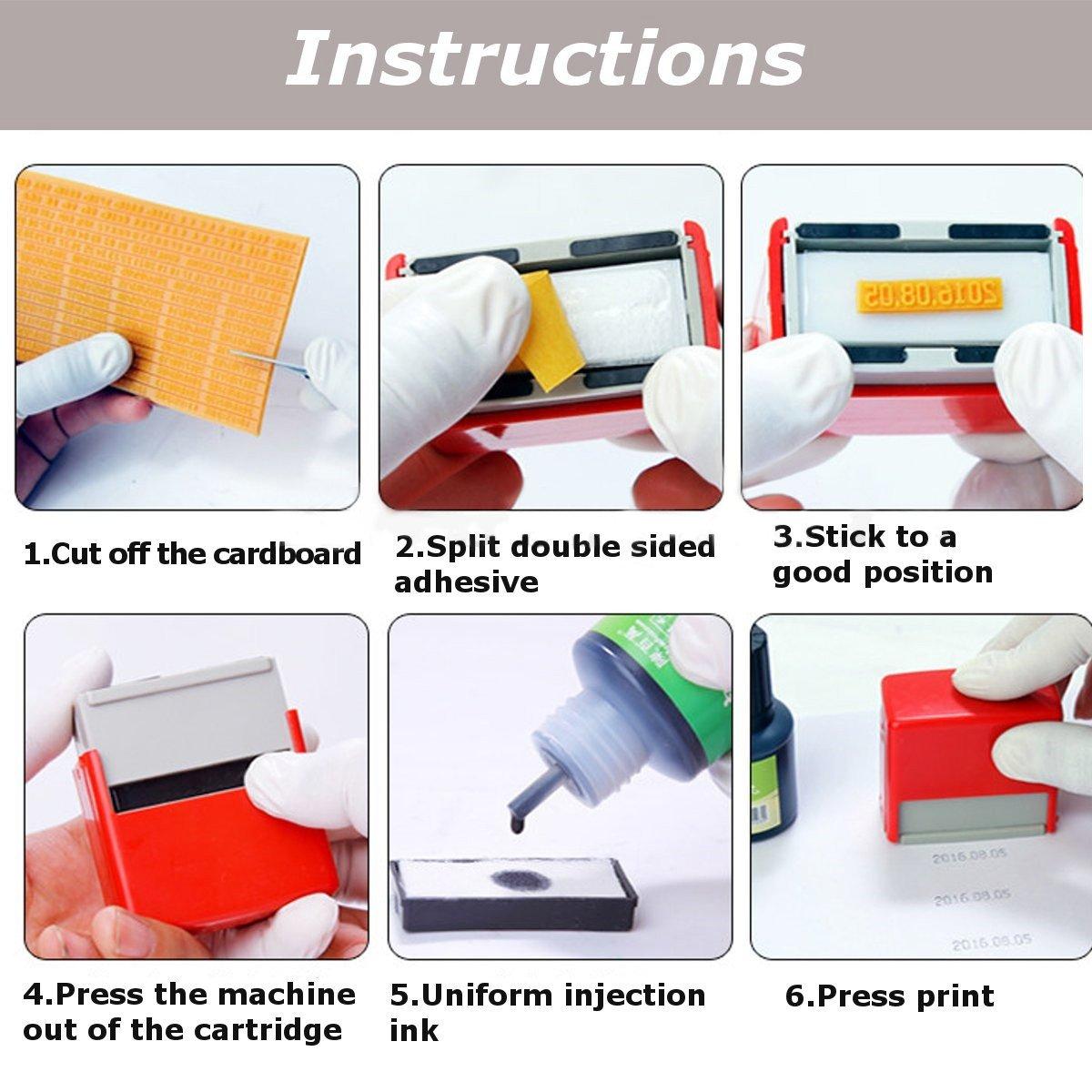 MXBAOHENG Manual Handheld Printer Code Tool Coding Date Numbers Printing Machine A4