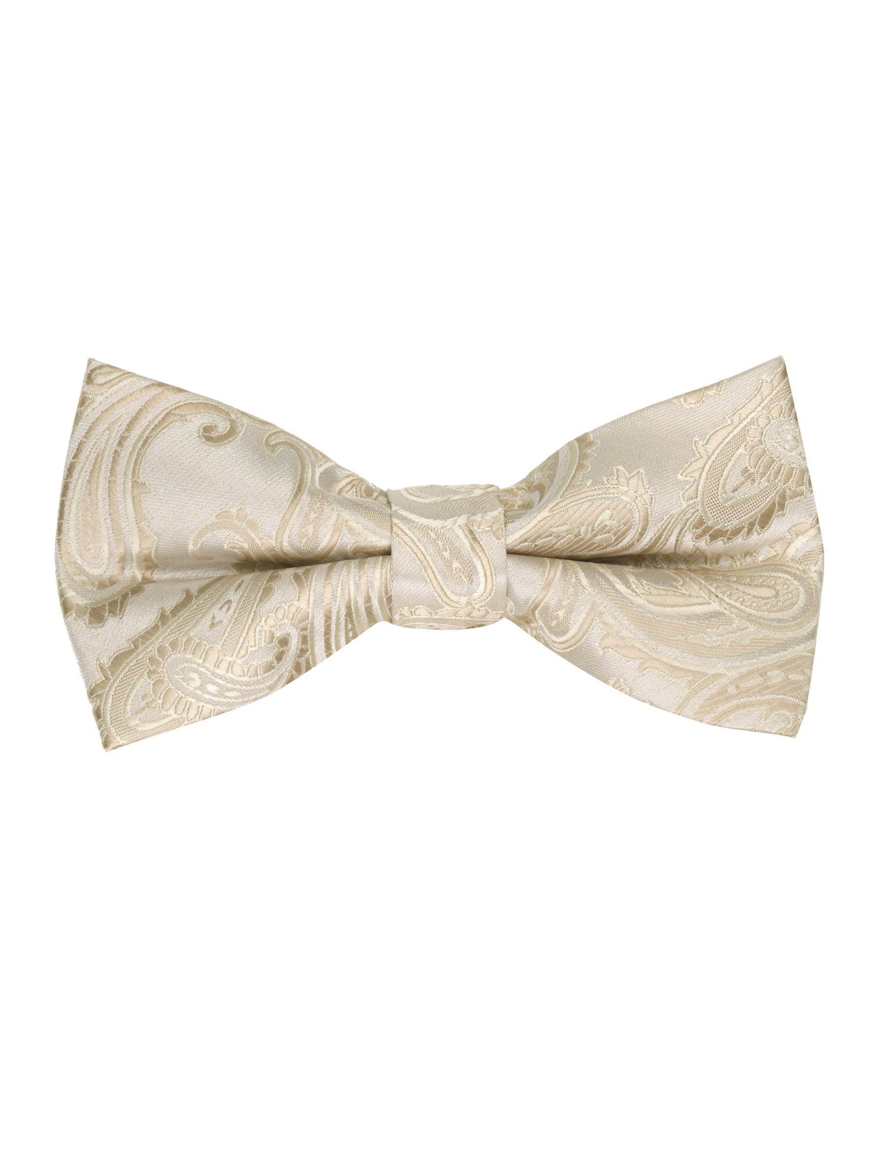 Men's Paisley Pre-Tied Bow Tie - Champagne, One Size
