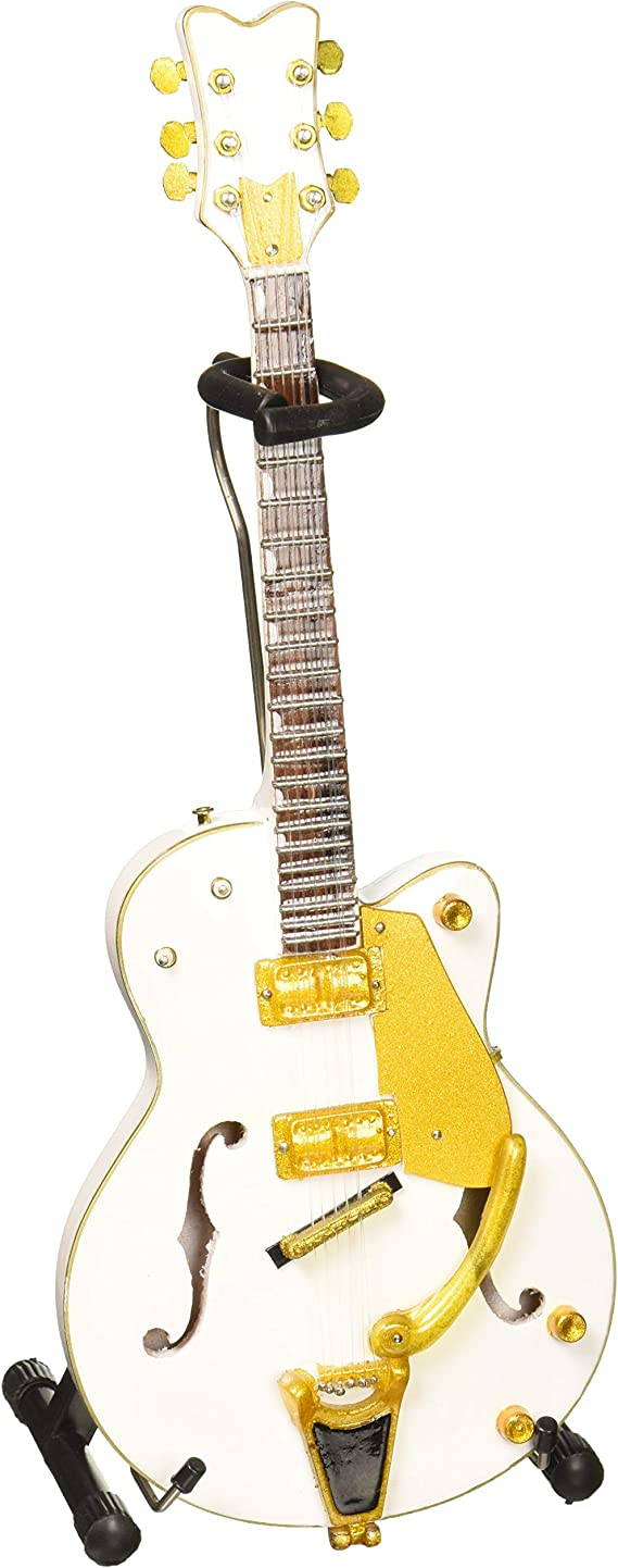 AXE HEAVEN BS-091 Brian Setzer White Hollow Body Mini Guitar