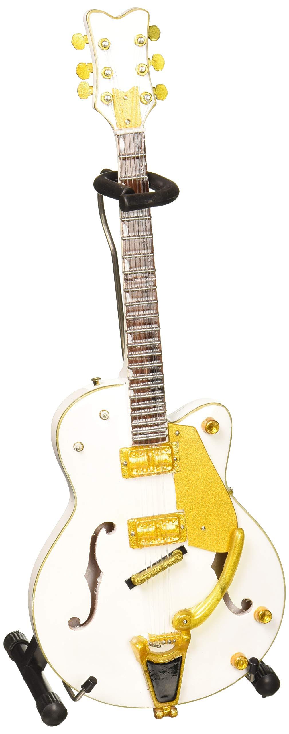 AXE HEAVEN BS-091 Brian Setzer White Hollow Body Mini Guitar by AXE HEAVEN