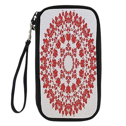 a4faabbc96c9 Amazon.com : iPrint Red Mandala, Hungarian Round Folk Art Pattern ...