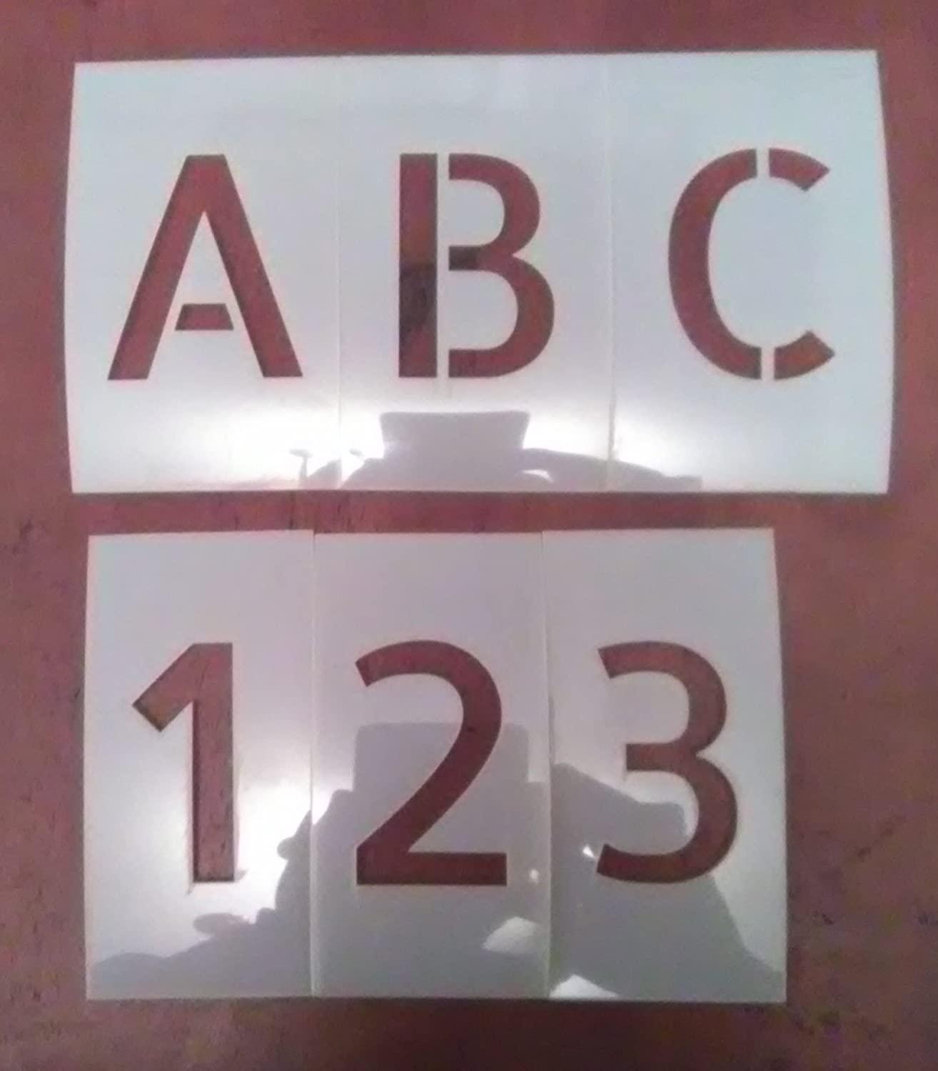 Stencil Font Uppercase Alphabet and Number Set (1 inch)